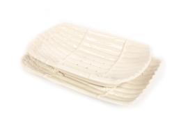 Uitlekschaal voor asperges wit