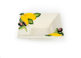 Schaaltje citroen en olijven, vierkant