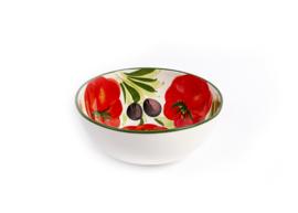 Saladeschaal tomaat-olijf