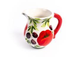 Water- wijn KAN met tomaat/olijf