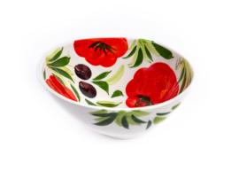 Organische schaal tomaat/olijf  klein NIEUW