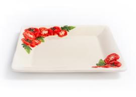 Bord met tomaten vierkant