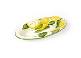Ovale platte schaal citroenen NIEUW