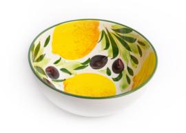 Saladeschaal citroen/olijven NIEUW