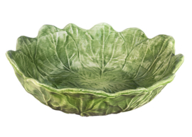 Ovale saladeschaal groen