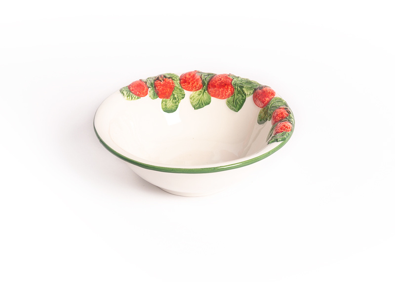 Aardbeien-schaaltje