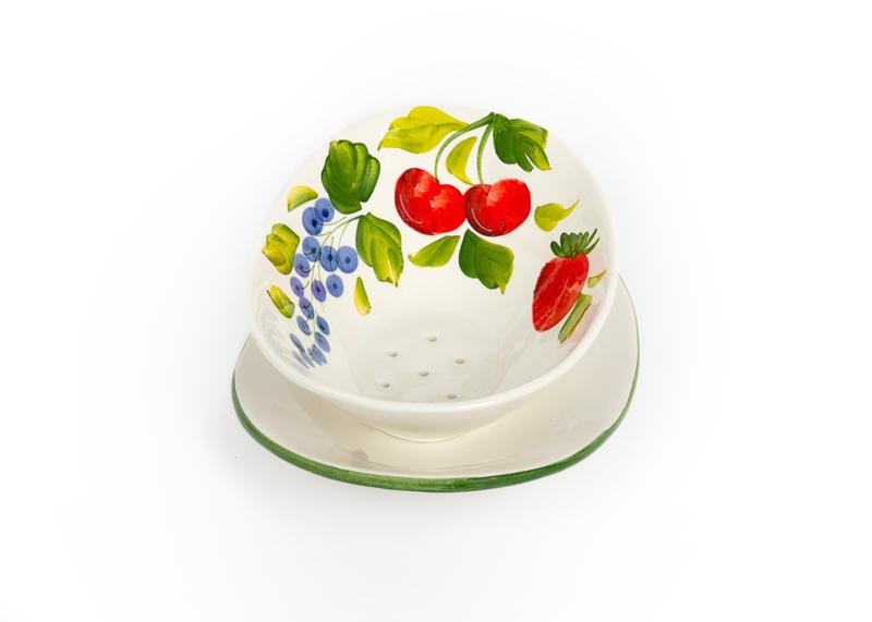 Fruittestje ovaal kersen, bessen en aardbeien