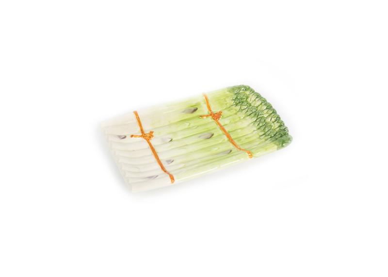 Groen schaaltje asperges