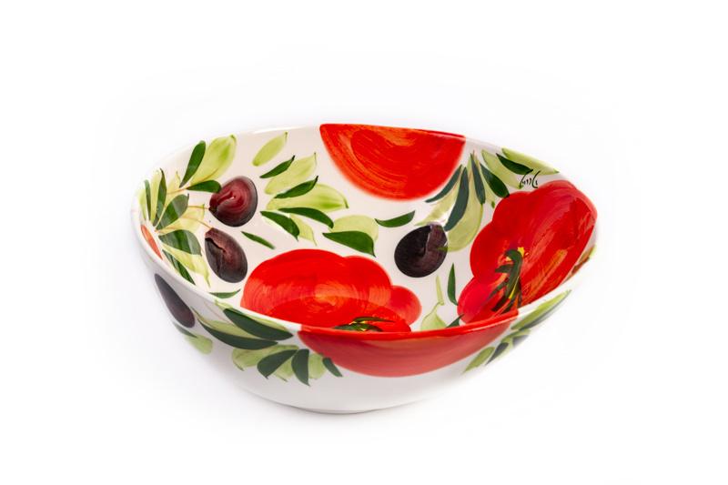 Organische schaal tomaat/olijf Medium