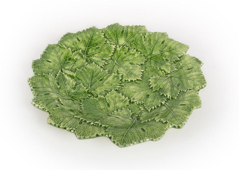 Bord groen met druivenbladeren NIEUW