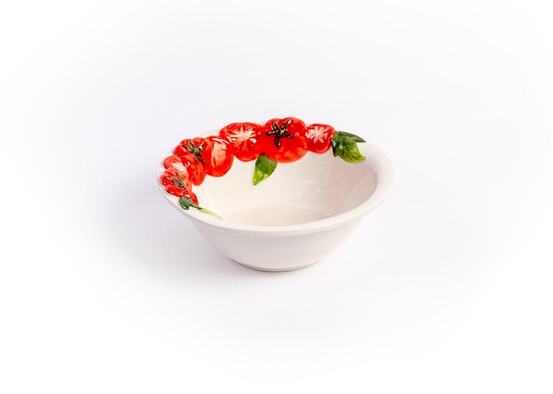 Schaal/kom rond met tomaten