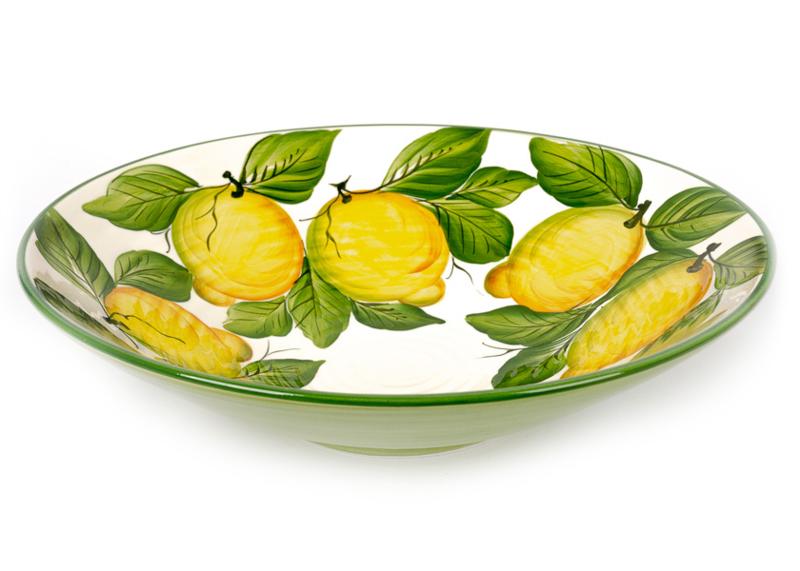 Grote ronde schaal met citroenen NIEUW