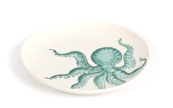 Capri Bord/ schaal met octopus, groot