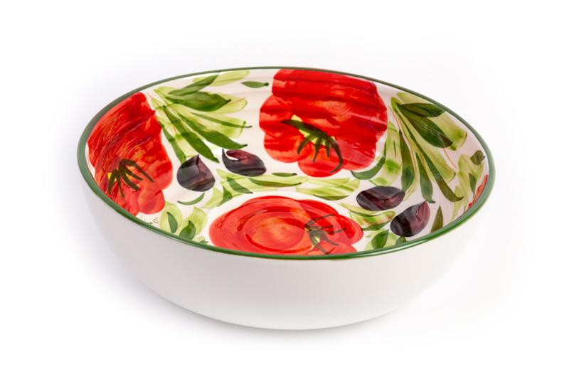 Tomaten-olijven schaal rond
