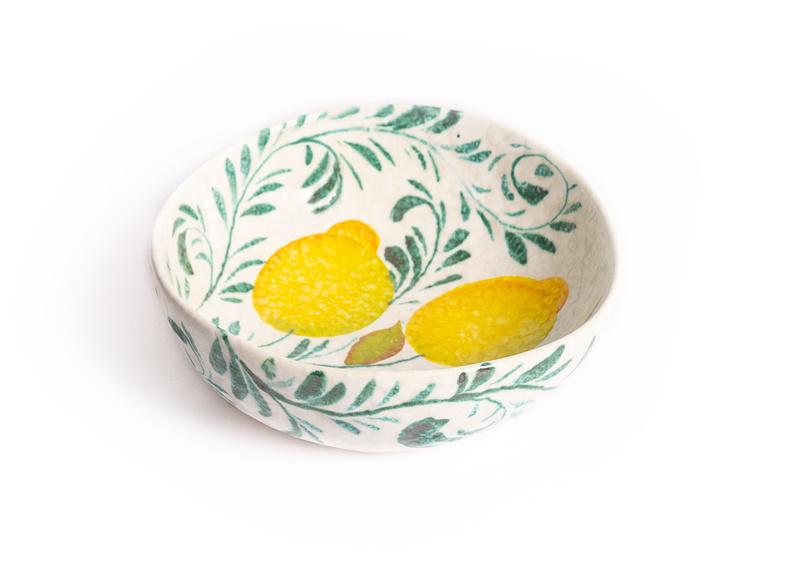 Schaal met citroenen arabesca ramina  groot
