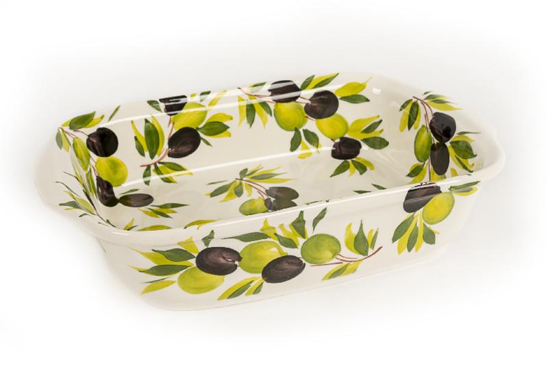 Oven/ lasagne schaal met olijven
