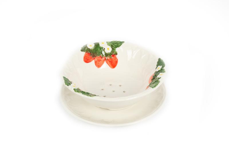 Aardbeien- testje / uitlekschaaltje voor fruit klein