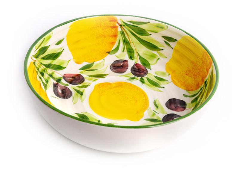 Grote ronde citroen / olijven schaal