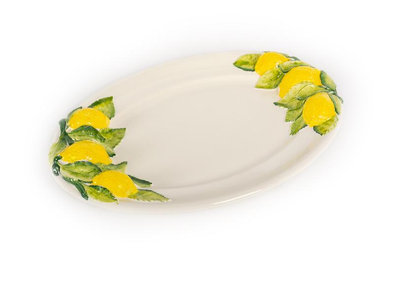 ovale citroenschaal