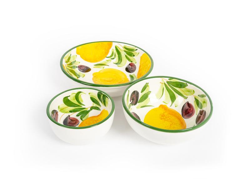 Antipasto schaaltjes citroen/olijven in 3 maten