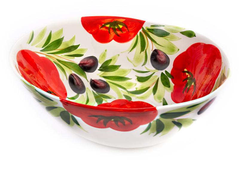 Organische schaal tomaat/olijf groot