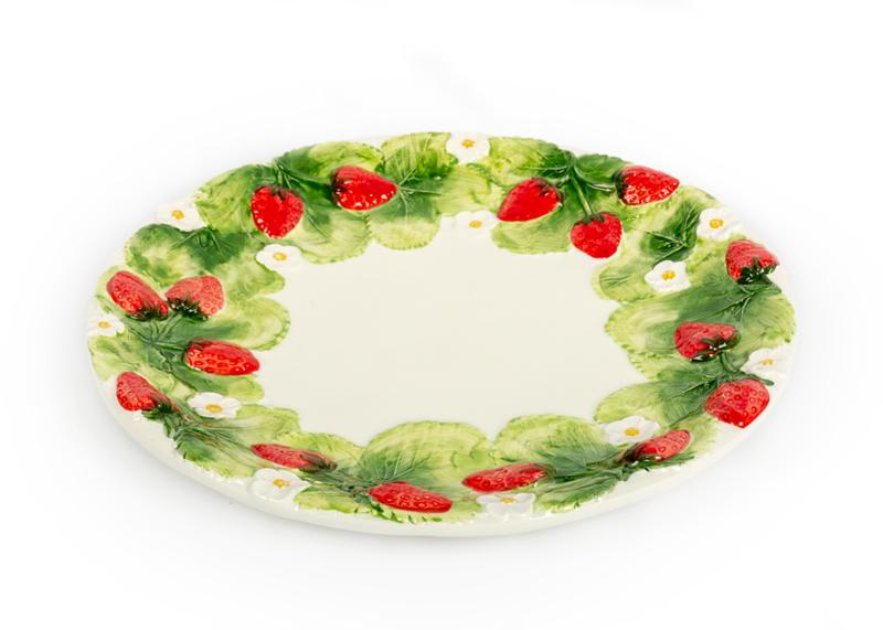 Ronde grote aardbeien-schaal