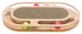 Krabkarton houten frame ovaal
