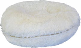 Donut Long Plush beige/wit