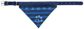 Halsband met sjaaltje indigo