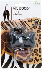 Poepzakhouder wildlife zwart