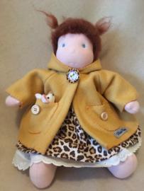 Jasje organic fleece mosterdgeel / jacket organic fleece mustard yellow