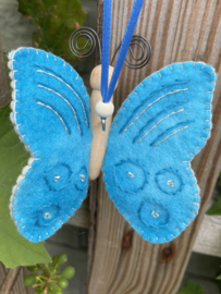 Vlinder turquoise / butterfly turquoise