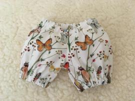 Pofbroekje vlindertjes pop 30 cm / puff pants butterflies doll 30 cm