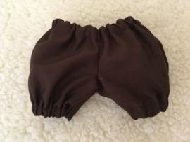 Pofbroekje bruin pop 30 cm / puff pants brown doll 30 cm