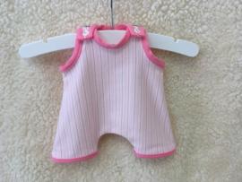 Speelpakje roze gestreept/ playsuit pink striped