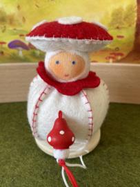 Paddestoel bol rood / wit -   Mushroom ball -red / white