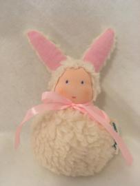 Konijn  ecru - rose/  Rabbit