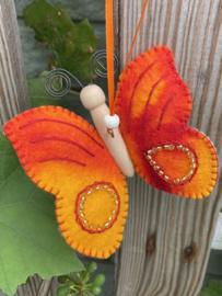 Vlinder rood - oranje / butterfly red-orange