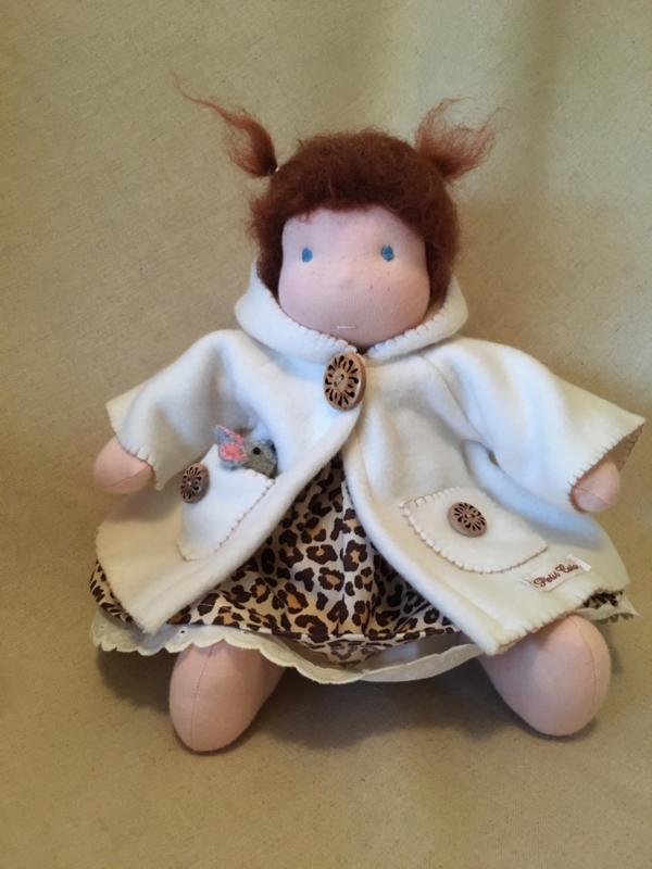 Jasje organic fleece wolwit / jacket organic fleece woolwhite