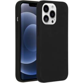 Luiquid silicone blackcover met MagSafe iPhone 13 Pro Max -Black