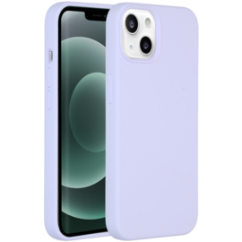 Luiquid silicone blackcover iPhone 13- Paars
