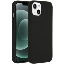 Luiquid silicone blackcover iPhone 13- Zwart