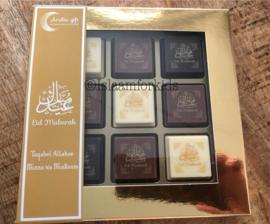 Eid mubarak pralines (doosje van 9)