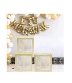 Eid ballonnen box goud