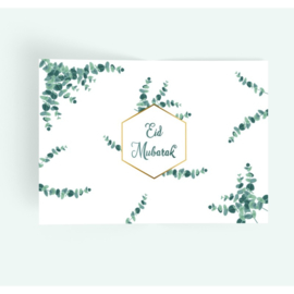 Eid Mubarak Placemat Eucalyptus
