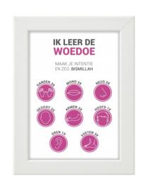 Lijst ik leer de Woedoe roze