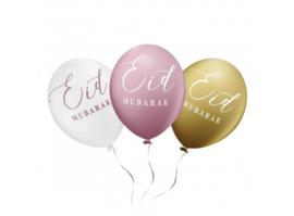Eid Mubarak ballonnen roze (6 stuks)