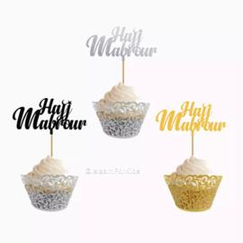 Hajj Mabrur Cupcake prikkers (10 stuks)