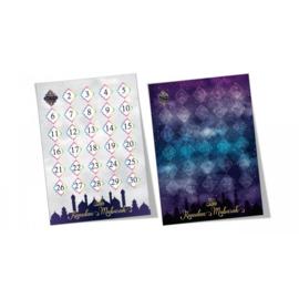 Ramadan aftel kalender (dubbelzijdig) met stickers