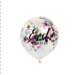 Ballonnen Eid Mubarak confetti (6 stuks)